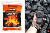 Welsh Anthracite Large Nuts (Black Diamond)